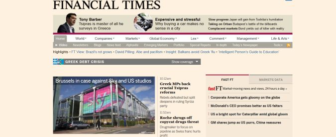 Financial Times diventa giapponese. Pearson lo vende a Nikkei