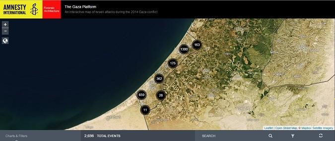 'Piattaforma Gaza', online le violazioni dei diritti umani commesse da Israele
