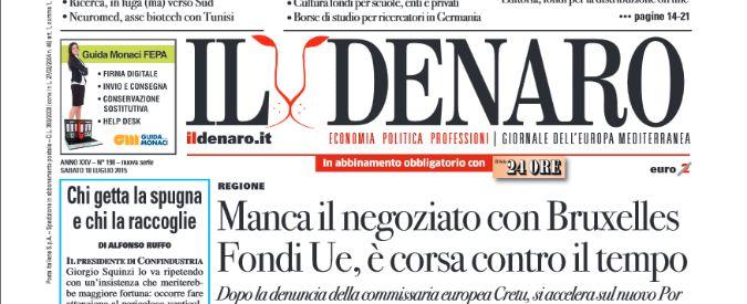 """Editoria, """"il direttore de Il Denaro ha truffato lo Stato per ottenere contributi"""""""