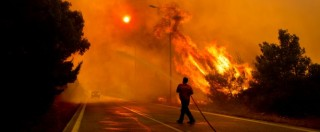 Incendio ad Atene, fiamme sul monte Imetto e sul Peloponneso (FOTO e VIDEO)