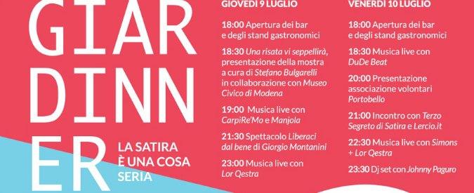 Giardinner, Modena per Charlie Hebdo con Lercio e il Terzo Segreto di Satira