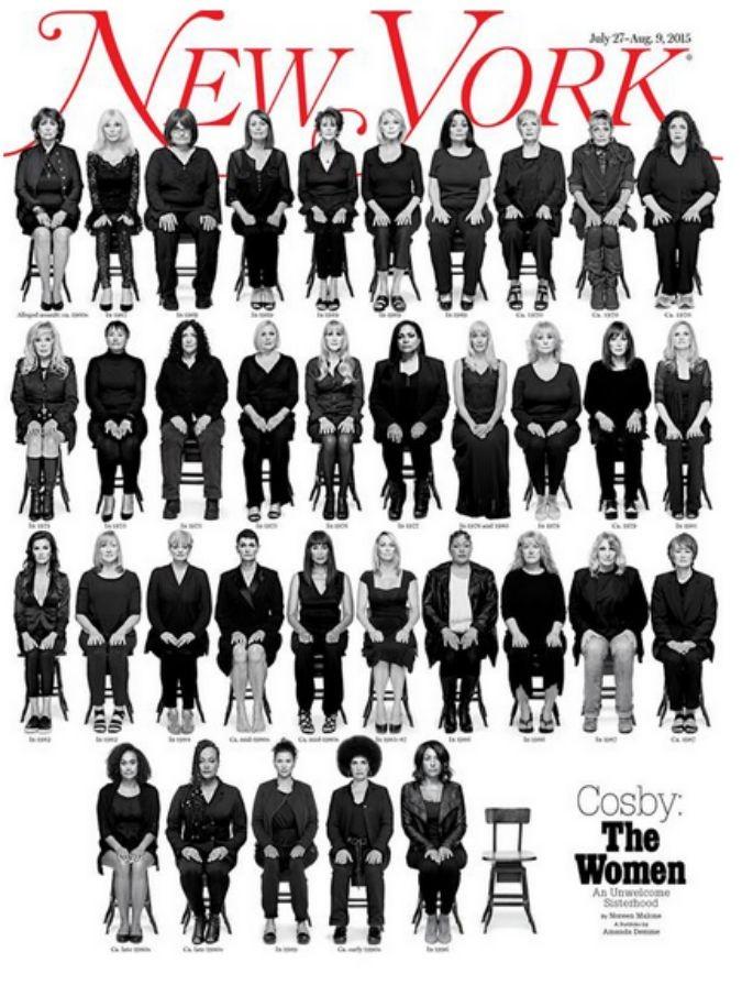"""Bill Cosby, le 35 donne molestate dal """"dottor Cliff Robinson"""" nella nuova copertina del New York Magazine"""