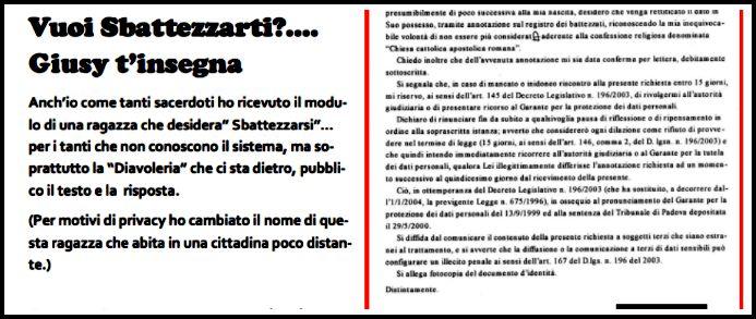 """Ravenna, vuole essere sbattezzata e il prete la deride sul giornale parrocchiale: """"Ti consiglio un esorcista"""""""