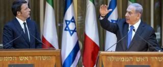 """Renzi in Israele: """"Italia sostiene accordo con Iran"""" Netanyahu: """"Alimenterà terrorismo"""""""