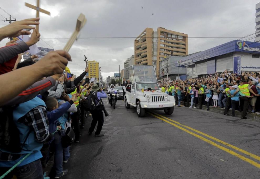 Il Papa si fermerà 8 giorni in Ecuador, la visita includerà anche Bolivia e Paraguay