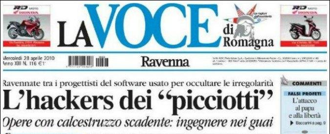 """La Voce di Romagna, il tribunale di Rimini dichiara il fallimento: """"Buco da oltre 11 milioni"""""""