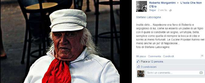 """Ezio Neri è morto, Bologna dice addio a Napoleone: il cuoco dei senzatetto che Dalla chiamava """"fratello"""""""