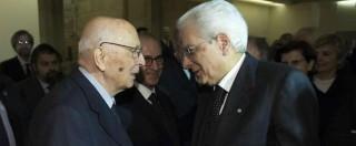 Senato, Napolitano vuole ancora dettare la linea in collisione con il non interventista Mattarella