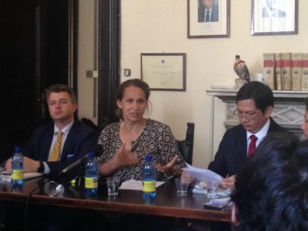 Da sinistra: Michal Balcerzak, MireilleFanon-Mendes France (Presidente) e Ricardo Sunga III
