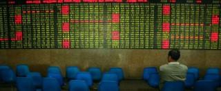 Borse ancora a picco in Asia. Shanghai chiude a -7,63%. Europa rimbalza