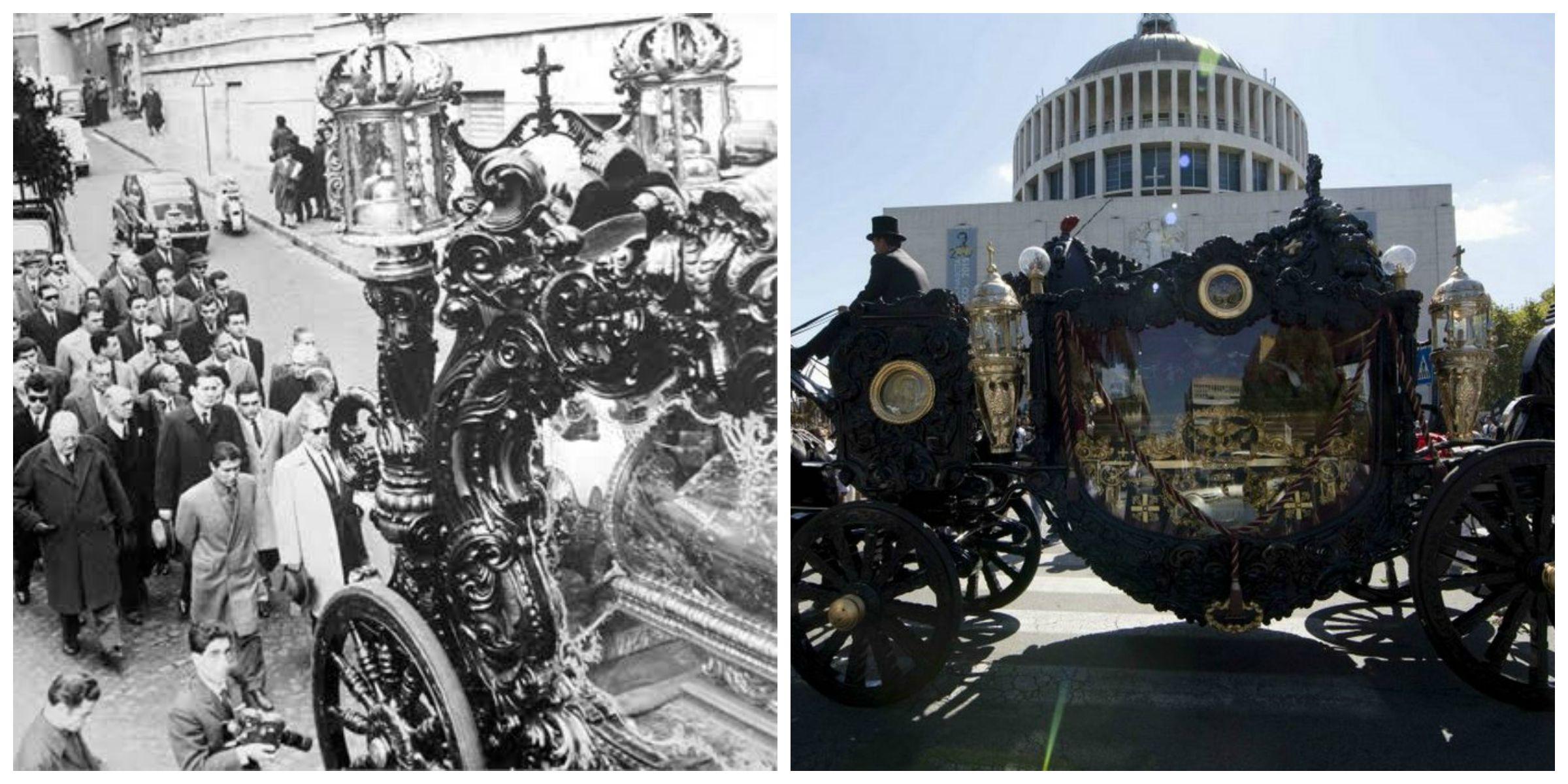 Casamonica, carrozza d'epoca e cavalli neri: i funerali del patriarca Vittorio come quelli di Lucky Luciano