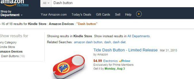 Dash button in vendita su Amazon: come fare acquisti in Rete senza pc e telefonino