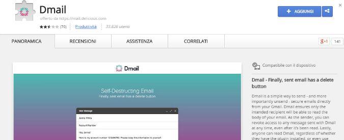 Dmail, ecco l'app per inviare messaggi di posta che si autodistruggono