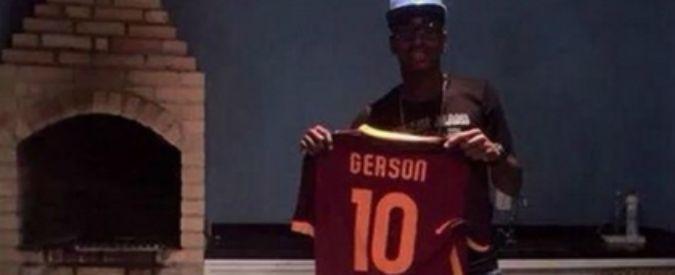 Calciomercato Roma: Gerson, che fai? Foto con la 10 di Totti