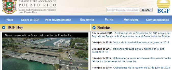 Porto Rico ufficialmente in default. E' il primo territorio Usa che fallisce