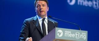 """MIgranti, Renzi al Meeting Cl: """"Salviamo le vite, non importa se costa voti"""""""