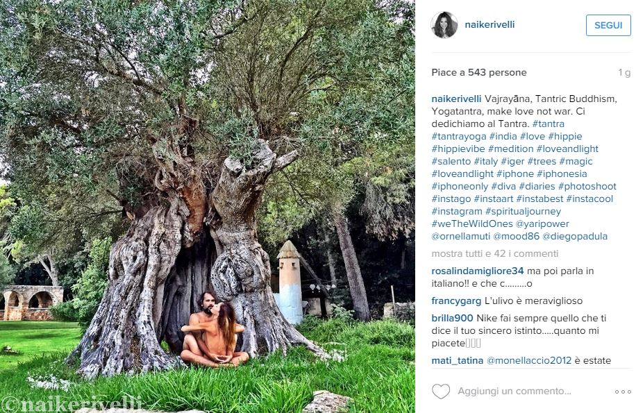 foto tratte dal profilo Instagram di Naike Rivelli