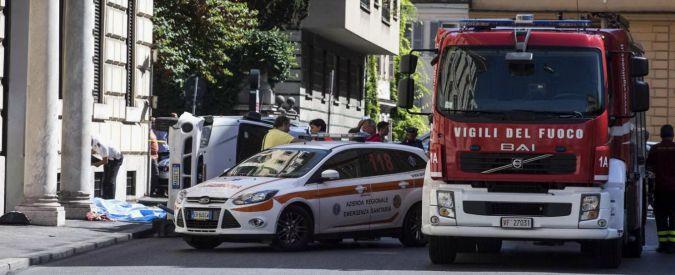 """Roma, incidente di piazza del Popolo causato da """"un violento colpo di tosse"""""""