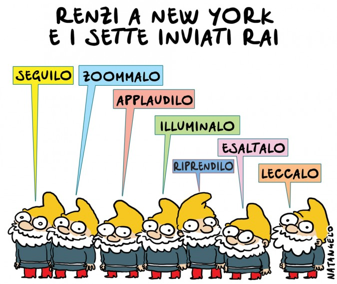 Renzi a New York: i sette inviati Rai