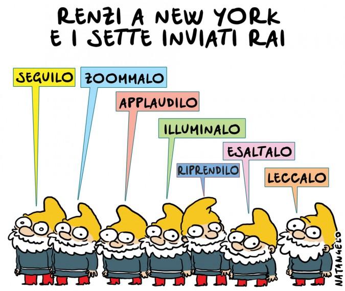 Renzi a New York: i sette inviati Rai
