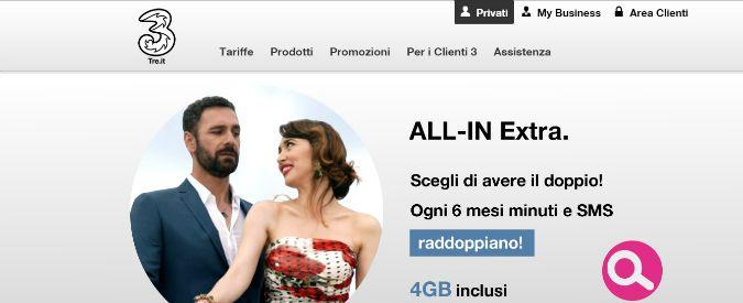 Tre Italia e consumatori, Tar del Lazio conferma multa da 1,75 milioni di euro