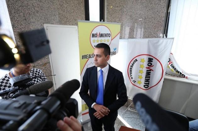 Conferenza stampa del Movimento 5 Stelle a Napoli