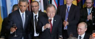 """Siria, Obama all'Onu: """"No alleanze con Assad"""". Putin: """"Errore"""". Poi il bilaterale tra i due leader"""