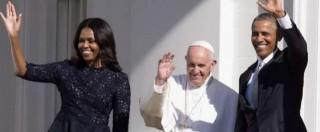 """Papa Francesco alla Casa Bianca: """"Io qui da migrante. Bene attenzione su clima"""". Obama: """"Lei è il pontefice della speranza"""""""