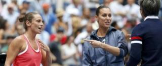 """Flavia Pennetta batte Roberta Vinci nella storica finale dell'Us Open. Poi l'annuncio in diretta: """"Mi ritiro"""" (FOTO e VIDEO)"""
