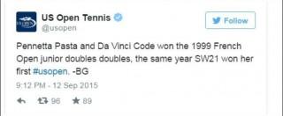 """Us Open su Twitter: """"Pennetta Pasta e Vinci Code"""". L'ironia del giornalista fa discutere in rete"""