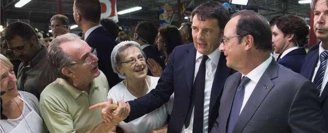 Renzi e Hollande a cena da Bottura. E poi il leader Pd porta il presidente della Francia alla Festa dell'Unità (FOTO)