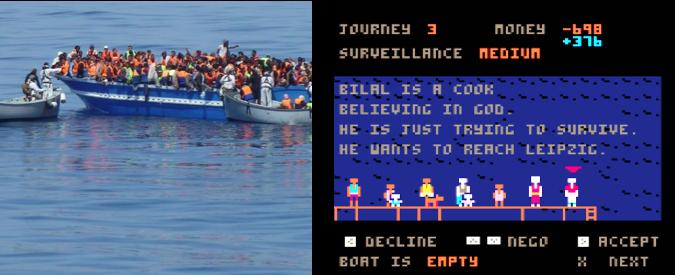 Migranti, il videogame dove il giocatore è lo scafista. E tanti profughi annegano