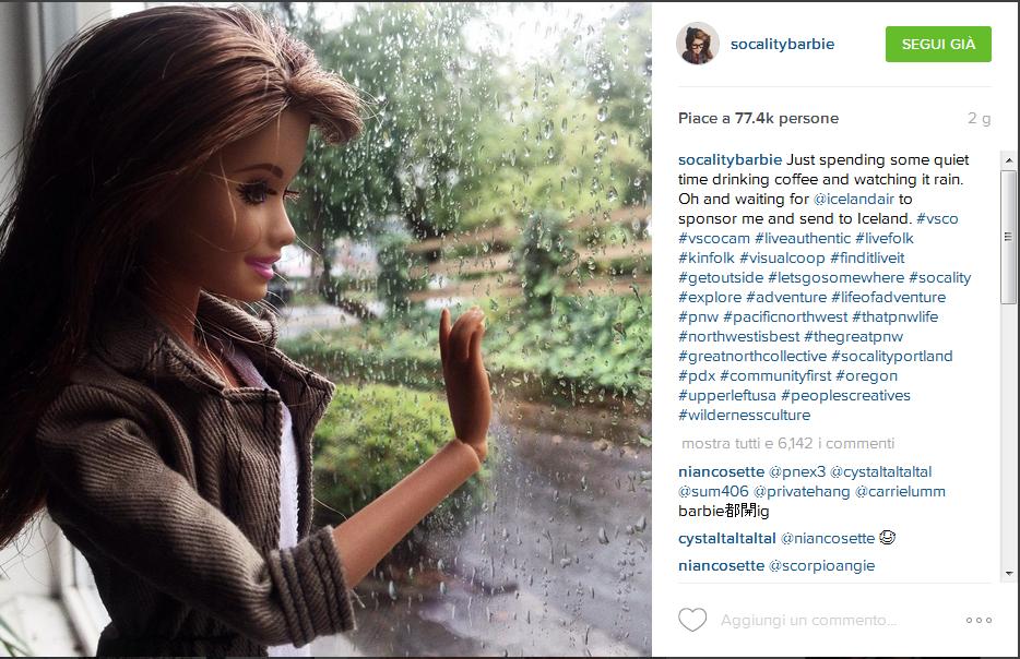 Dal profilo Instagram di @socalitybarbie