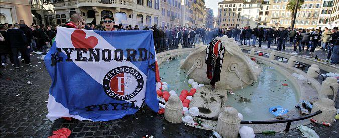"""Fontana della Barcaccia, Procura: """"Tifosi Feyenoord saranno processati a Rotterdam"""""""