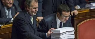 """Riforma Senato, accordo maggioranza. Calderoli: """"82 milioni emendamenti"""". Grasso: """"Offende istituzioni"""""""