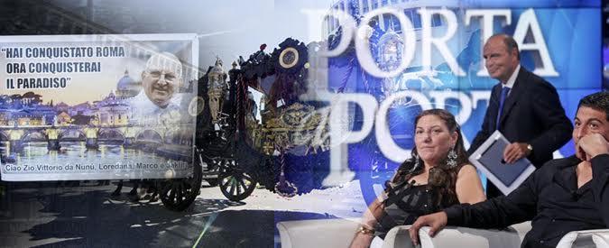"""Casamonica a Porta a Porta, Vespa sotto accusa. Pd: """"Chieda scusa alla capitale"""" Nipote del re di Roma: """"Grazie Bruno"""""""