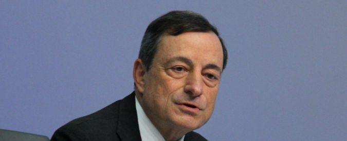 """Bce, Mario Draghi: """"Ripresa più lenta del previsto. Pronti a prolungare acquisto titoli di Stato"""""""