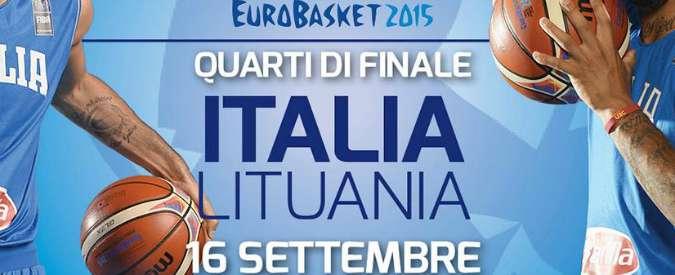 "Europei basket, quarti di finale Italia-Lituania. Basile: ""Puntiamo sul talento"""