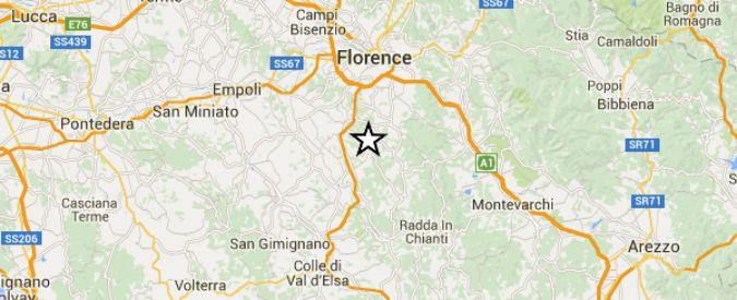 Terremoto Toscana, scossa di magnitudo 3.7 avvertita a Firenze e nel Chianti
