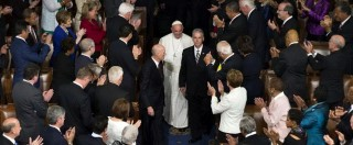 """Papa Francesco al Congresso Usa: """"Abolite la pena di morte e la vendita delle armi"""""""