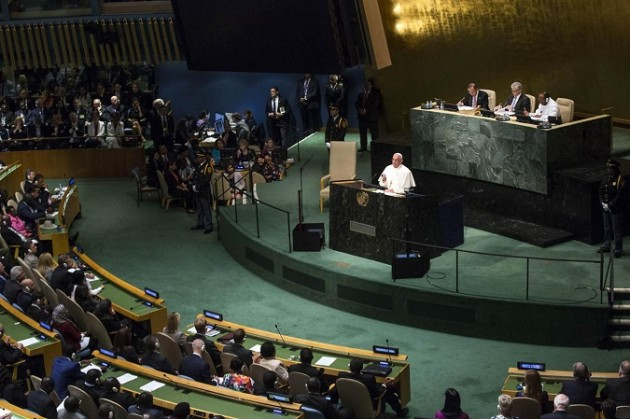 Papa Francesco apre la 70ma Assemblea Generale dell'Onu
