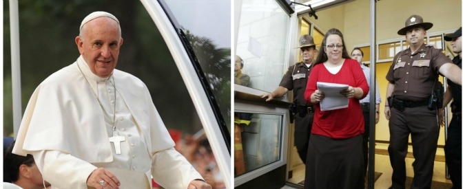"Papa Francesco incontra l'impiegata Usa che negò nozze a coppie gay: ""Sii forte"""