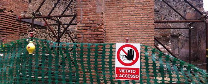 Scavi Pompei, nuovo crollo: cede muretto in area chiusa al pubblico