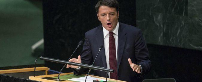 """Migranti, Renzi all'Onu: """"L'Ue non ceda alla paura. Italia pronta a guida in Libia"""""""