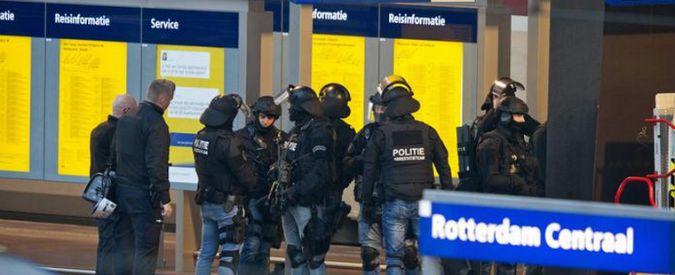Terrorismo, evacuato treno a Rotterdam. Arrestato sospetto, si era barricato in bagno