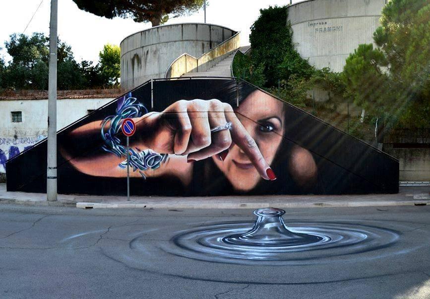 Per un evento collaterale del PREMIO Antonio Giordano. Gli eventi sono organizzati dall'associazione ACAG che si occupa di promuovere la Street Art nei piccoli centri del Molise. Foto di Gaetano Piermarino http://www.premioantoniogiordano.tk/
