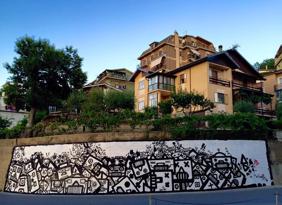 Per il progetto Urban Revival curato dall'a.p.s Rublanum Alternative in Rogliano (CS). Foto di Giacomo Marinaro