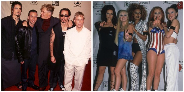 Collage backstreet boy-spice girls