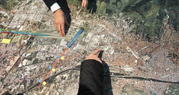 Il plastico di Toscana Aeroporti che non rappresenta i voli rumorosi per i fiorentini