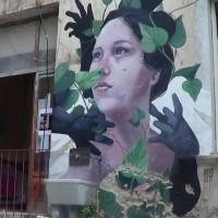 Omaggio dell'artista argentino alla città di Napoli.  Foto di Giuseppina Ottieri